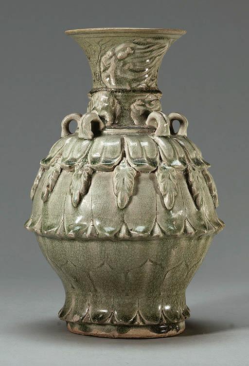 A Green-Glazed Grey Stoneware