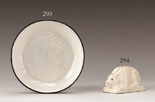 An Unusual Small Cream-Glazed