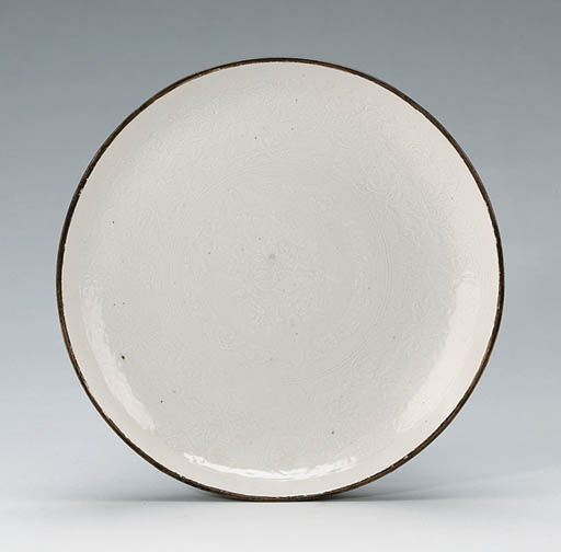 A Large Molded Dingyao Dish