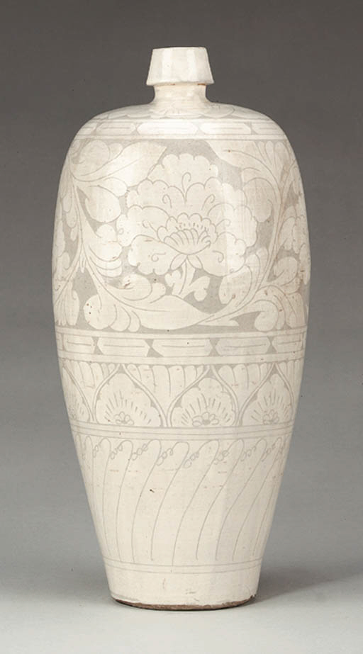 A Rare Cizhou Carved Meiping