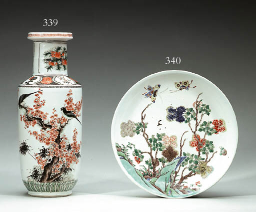 A Famille Verte Rouleau Vase