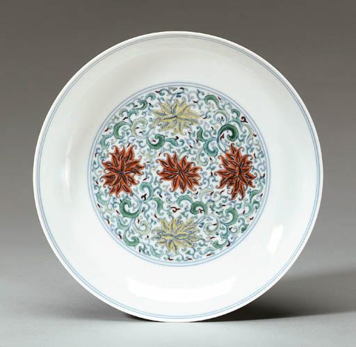 A Doucai Saucer Dish