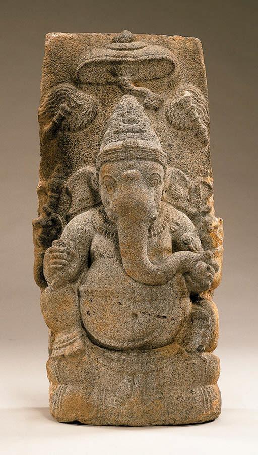 A Large Granite Figure of Gane