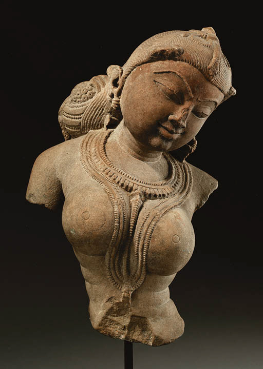 A Red Sandstone Figure of Devi