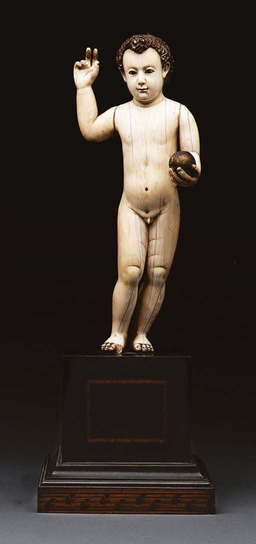 A Ivory Figure of the Christ C