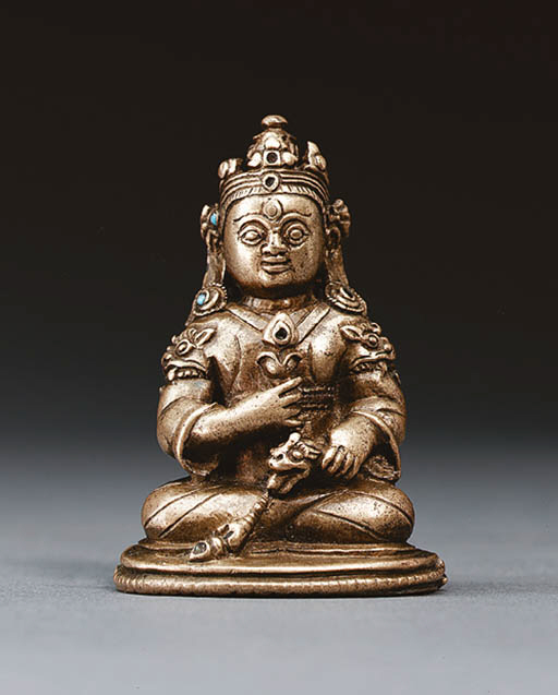 A Small Bronze Figure of Kuber