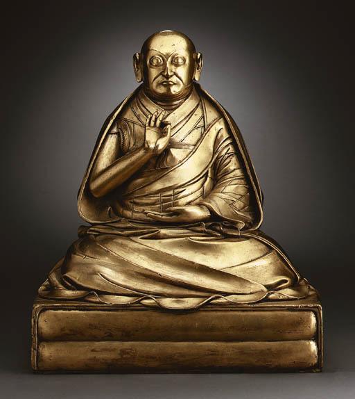 A Large Gilt Bronze Portrait o
