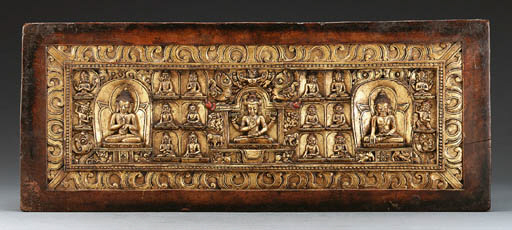 A Carved and Gilt Manuscript C