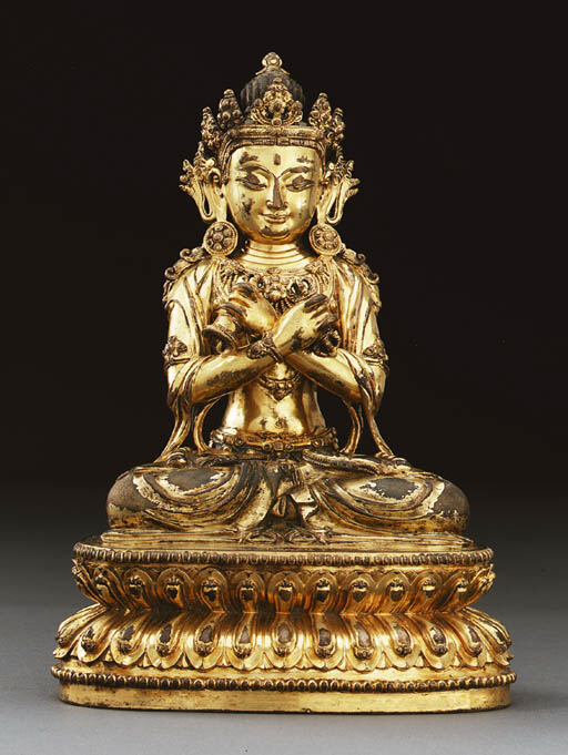 A Rare Gilt Bronze Figure of V