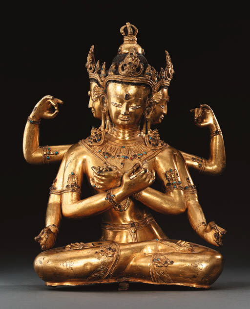 A Gilt Bronze Figure of Vajrad