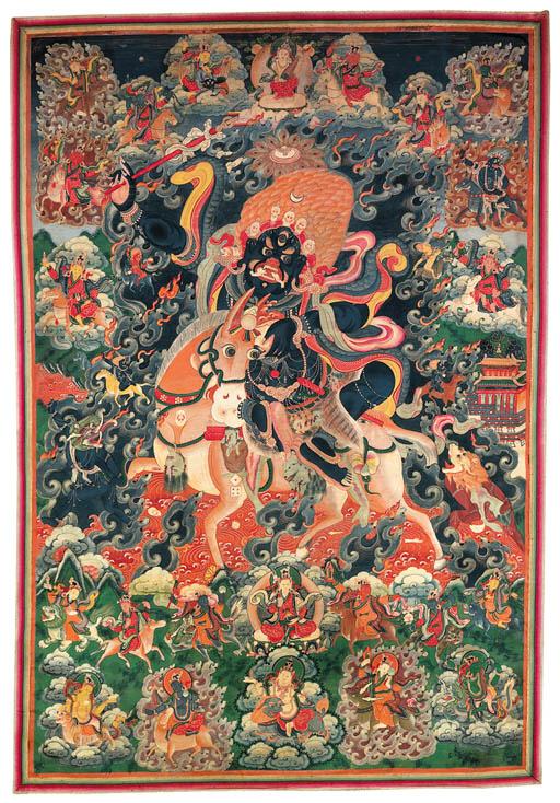A Large Thanka of Palden Lhamo