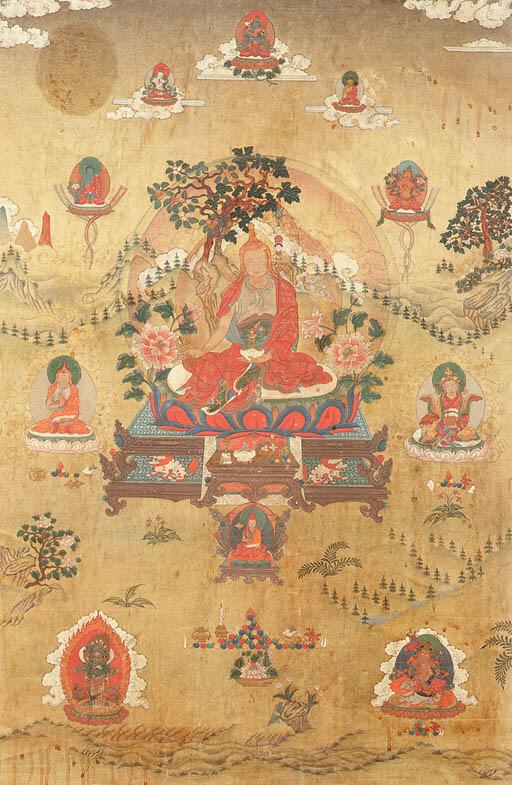 A Thanka of a Nyingma Lama
