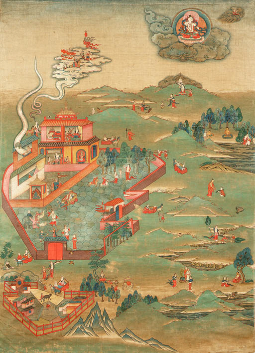 A Thanka with Scenes from the