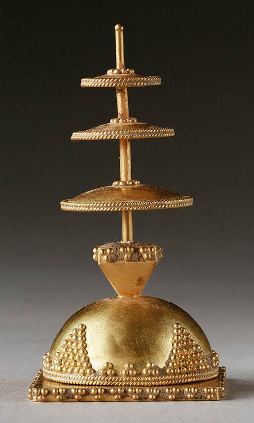 A Small Gold Stupa