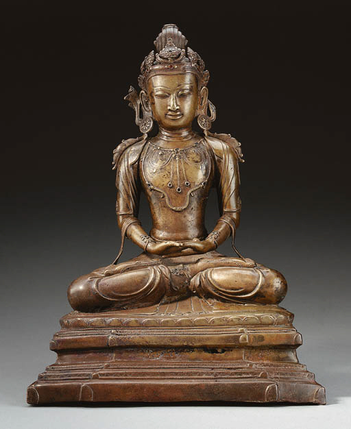 A Rare and Large Bronze Figure