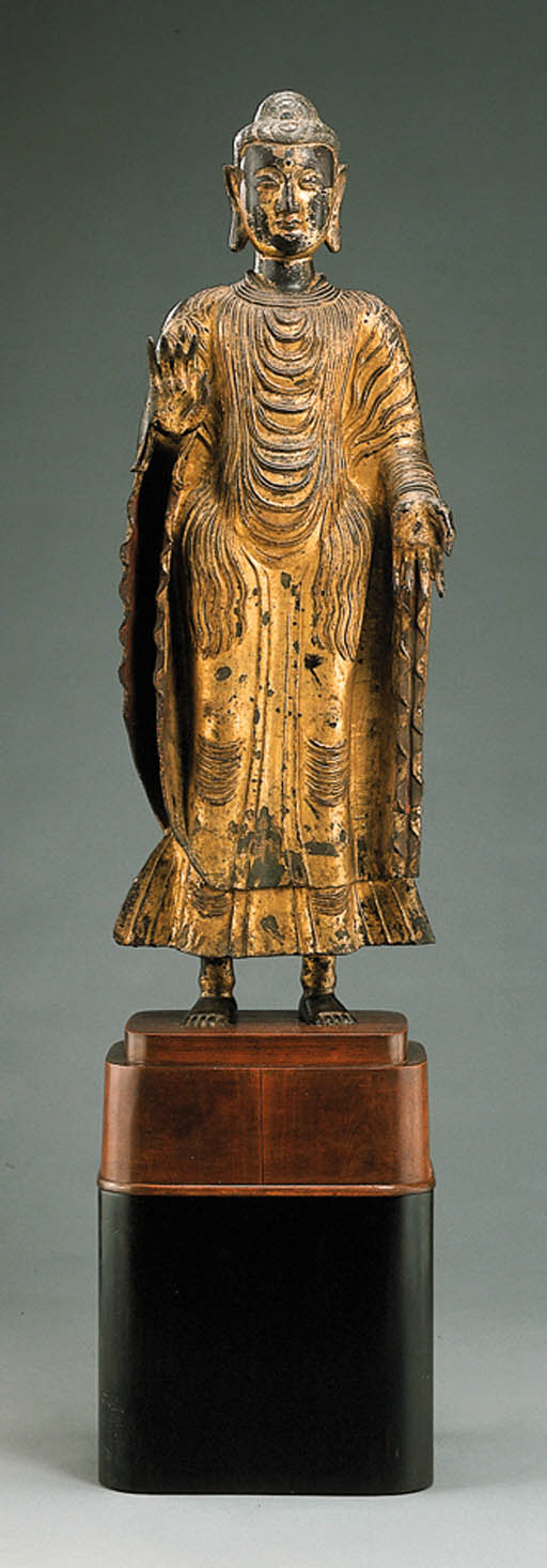 A Gold Lacquered Bronze Figure