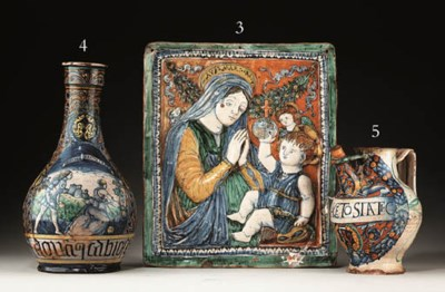 A DERUTA MAIOLICA WET DRUG JAR