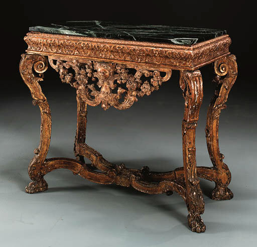A LOUIS XIV GILTWOOD STAND