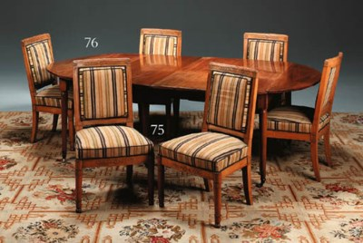 A SET OF SIX EMPIRE BEECHWOOD