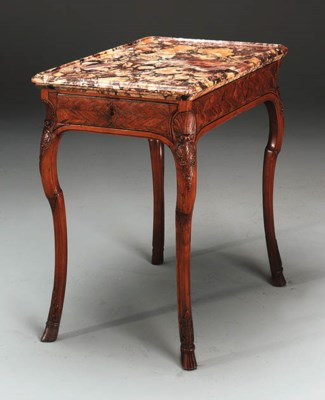 A LOUIS XV EBONY-INLAID FRUITW