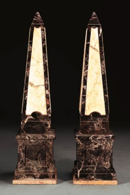 A PAIR OF NEOCLASSIC STYLE MAR