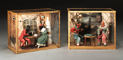 TWO CONTINENTAL SHADOW BOXES