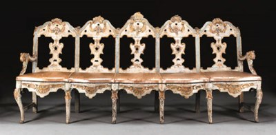 AN IBERIAN ROCOCO BLUE AND WHI