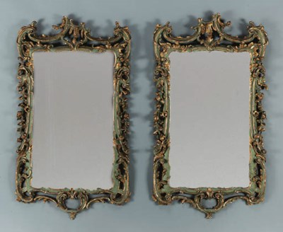 A PAIR OF GERMAN ROCOCO GREEN-