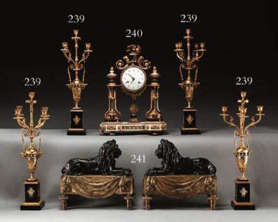 A LATE LOUIS XVI ORMOLU AND BL