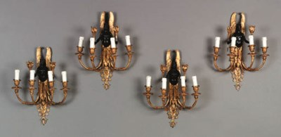A SET OF FOUR EMPIRE STYLE ORM