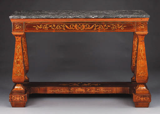 A SPANISH NEOCLASSIC ROSEWOOD