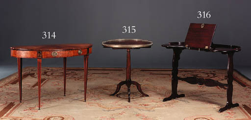 A LOUIS XVI MAHOGANY AND PLUM-