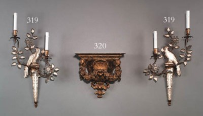 A PAIR OF ROCOCO STYLE GILT-ME