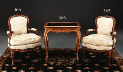 A LOUIS XV GILTWOOD AND BLACK