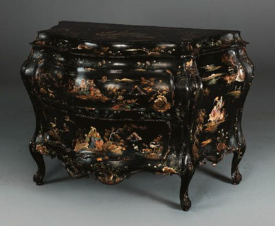 A VENETIAN GREEN-LACQUERED CHI