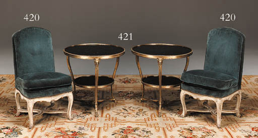 A PAIR OF EARLY LOUIS XV GREY-