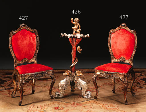 AN ITALIAN BAROQUE STYLE RED-P