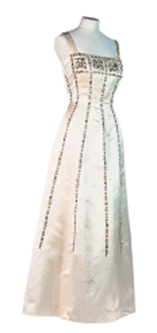 A COUTURE EVENING GOWN BY LANV