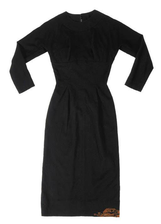 A BLACK COCKTAIL DRESS