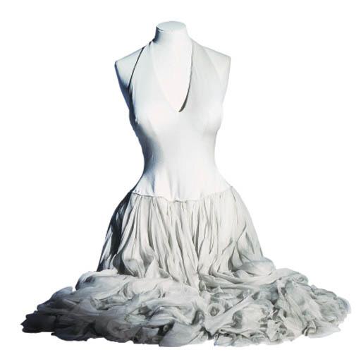 A GREY SILK JERSEY DRESS LET'S MAKE LOVE, 1960
