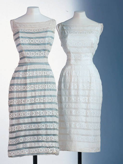 A PAIR OF LACE DRESSES