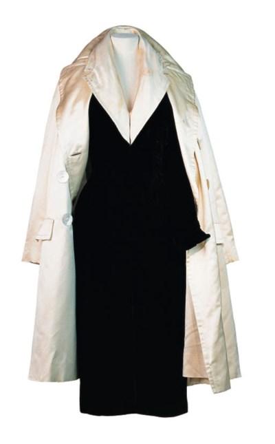 A VELVET DRESS AND COAT