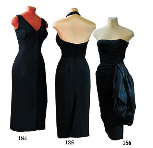 A BLACK JERSEY DRESS