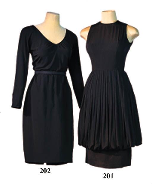 A BLACK SILK DRESS