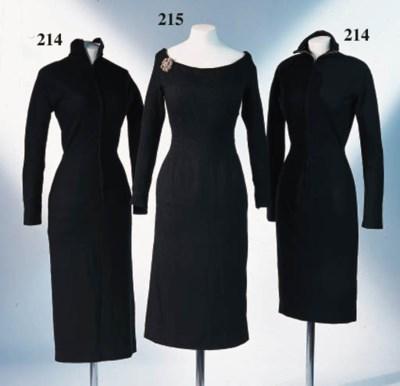 TWO WOOL DRESSES