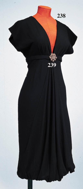 A SILK CREPE DRESS
