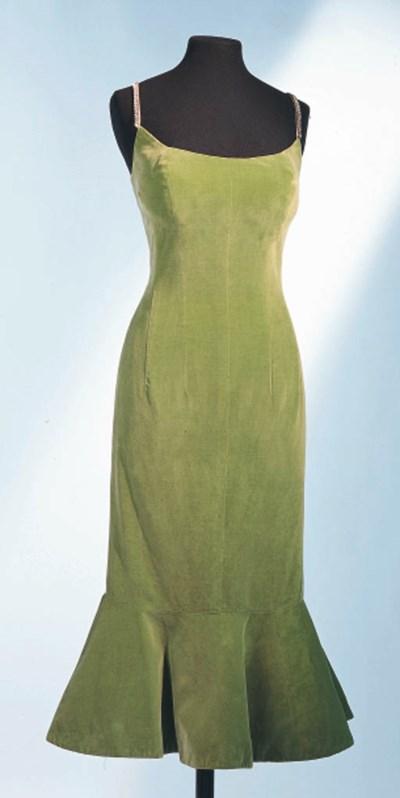 A GREEN VELVET DRESS