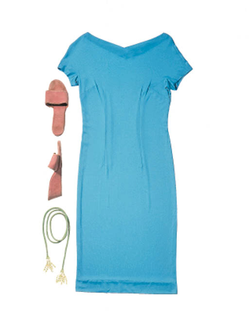 TURQUOISE PUCCI AND SHOES