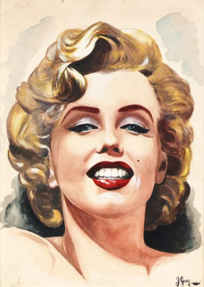 TWO PAINTINGS OF MARILYN