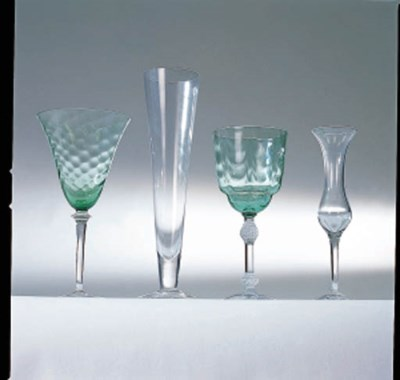 A GROUP OF GLASS ARTICLES